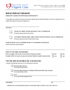 HIPAA Privacy Release